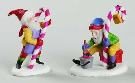 Candy Cane Elves Dept. 56 Retired Heritage Village North Pole Series Accessory