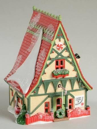 Dept. 56 Candy Cane & Peppermint Shop Heritage Village North Pole Series