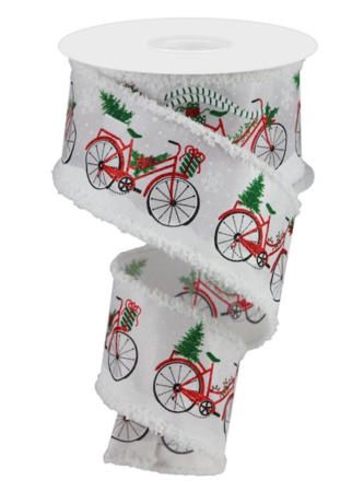 Bicycle Ribbon with Snowy Background