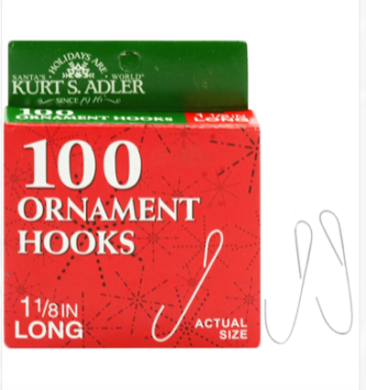 Ornament Hooks Wire 100 pack