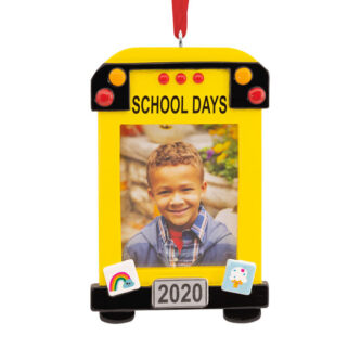 School Bus Photo Frame Ornament