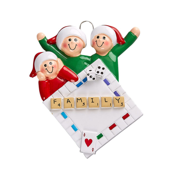 Family Game Night Personalized Ornament