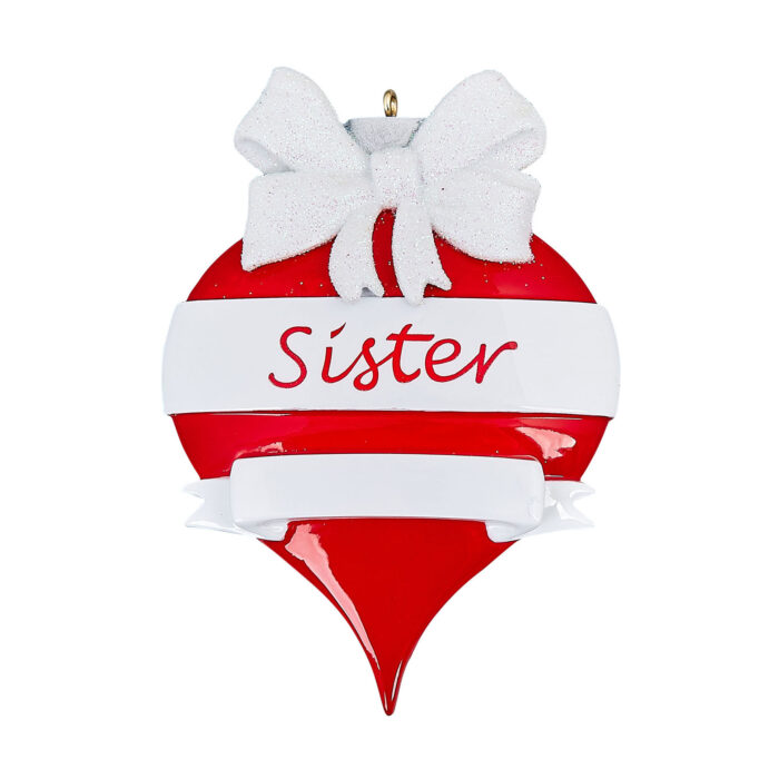 Sister personlized ornament