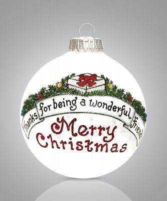 Thanks for being a wonderful friend merry Christmas Ornament