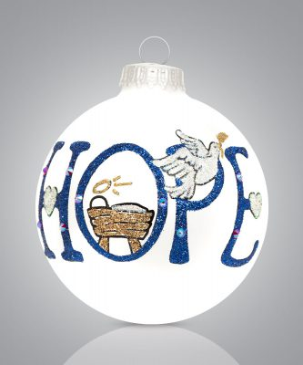 Hope with Baby Jesus Ornament