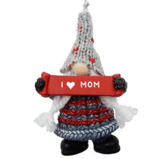 Gnome Family Ornament I heart you mom