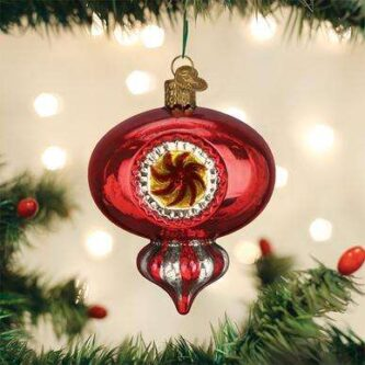 Old World Christmas Red Peppermint Reflection Ornament