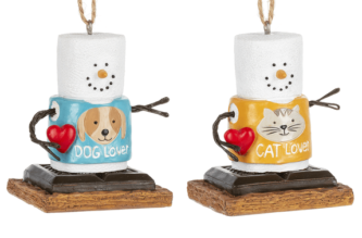 S'more Pet Lover, Cat or Dog Lover Ornament