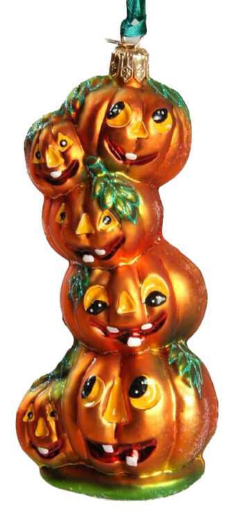 Radko Rare Retired Vintage Stack O' Lanterns Halloween Ornament