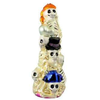 Radko Rare Retired Vintage Halloween Ornament Skeleton Crew