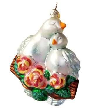 Radko Rare Retired vintage Little Gem Love doves