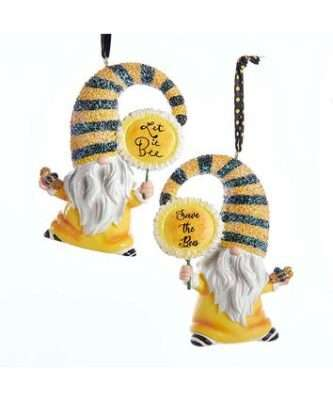 Gnome Bee Ornament, Save the Bees or Let it Bee