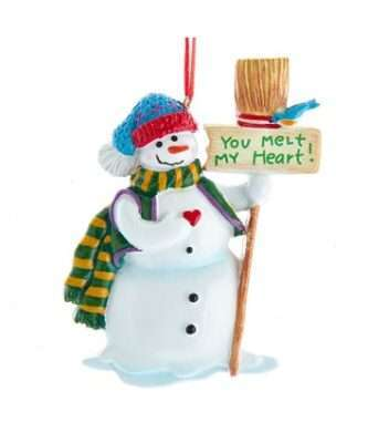 """""""You Melt My Heart"""" Snowman For Personalization"""