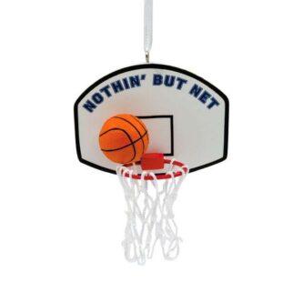 nothin' but net Basketball ornament